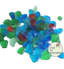Sugar Sea Glass for cake decorating