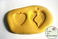 Hearts silicone mold for cake decorating, cupcake decorating, chocolate, polymer clay, resin, silicone mould