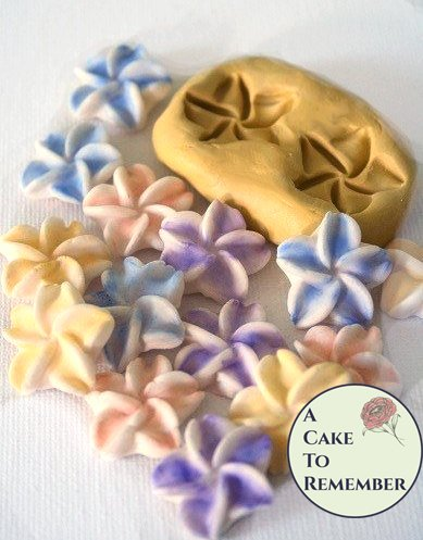 "Food safe flexible silicone flower mold, 3/4"" flowers, for cake decorating, chocolate, hard candy, polymer clay, resin, wax, silicone mould, cake pops"