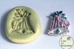 Silicone mold for Christmas bell, Food safe for cake decorating, or polymer clay mold.  M020
