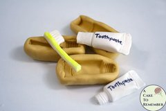 Toothbrush and toothpaste molds set, dentist cake ideas
