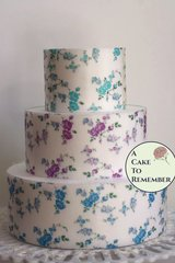 "3 full sheets vining floral print wafer paper for cake decorating or cupcake decorating. 8"" x 10.5"" paper for wafer paper flowers."