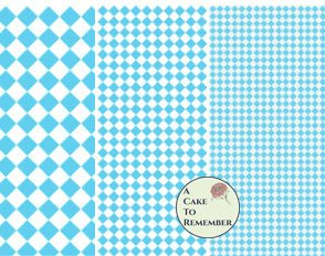 Digital download--Printable light blue diamonds wafer paper file for cake decorating or cupcake decorating