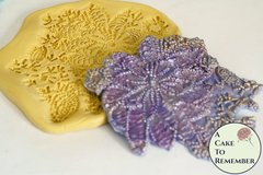 Seed bead floral and sequins cake decorating silicone mold. beaded lace mold M5092