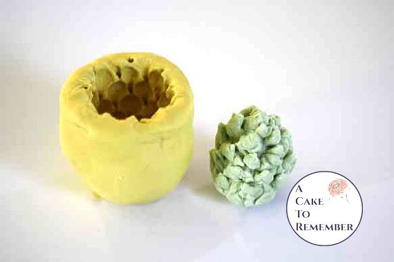 Silicone magnolia center cone mold for gumpaste- cake decorating, chocolate, hard candy, M031