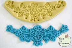 Silicone floral swag lace Mold for cake decorating cupcake decorating, polymer clay, silicone mould, swag lace mold, cake lace mold. M060