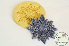 Seed beaded flower mold for cake decorating, silicone gumpaste mold for cake lace, beaded lace mold M5089