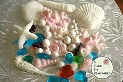 Ocean themed cake decorations for DIY cake decorating