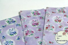"Three full sheets of printed wafer paper, vintage floral pattern, for cake and cookie decorating. 8"" x 10.5"" edible paper prints"