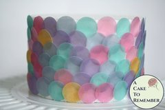 "Mermaid party decorations, 160 1"" wafer paper dots. Use for under the sea parties to make fish scales and mermaid tails for mermaid cakes"
