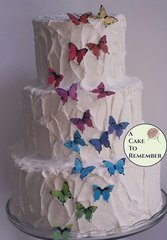 18 medium edible butterflies for cake decorating, cookies, cupcake decorating, cake pops. Wafer paper butterflies, wedding cake toppers.