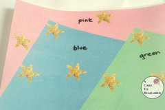"3 full sheets starfish printed wafer paper for cake decorating. 8"" x 10.5"" edible paper prints"
