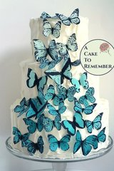 30 ombre wafer paper butterflies for cake decorating and cupcake decorating. Edible butterflies for wedding cake toppers.
