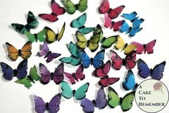 48 small edible butterflies for cake decorating, cookies, cupcake decorating, cake pops. Wafer paper butterflies, wedding cake toppers.