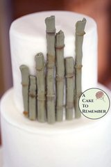12 pieces of gumpaste bamboo for cake decorating, edible bamboo, sugar bamboo for Hawaiian cakes.