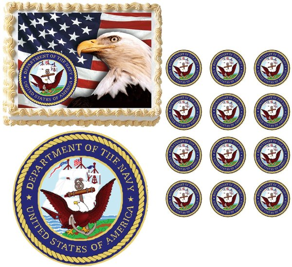United States Navy Logo Cake Topper