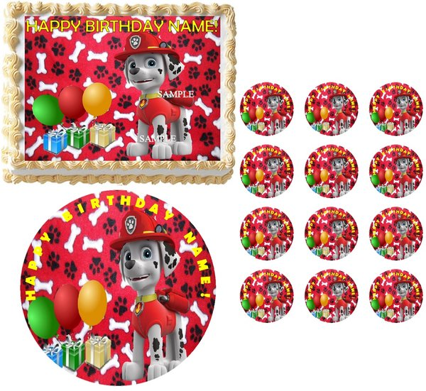 PAW PATROL MARSHALL Edible Cake Topper Image Frosting ...