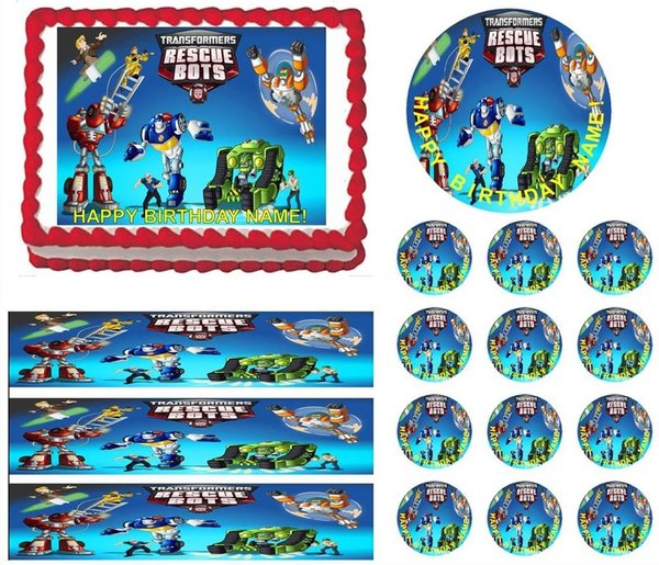 TRANSFORMERS RESCUE BOTS Edible Cake Topper Image Frosting ...