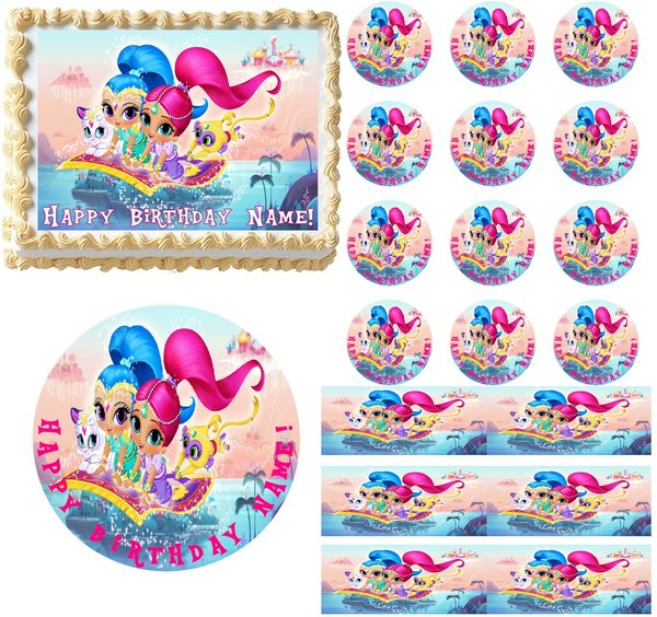 SHIMMER and SHINE Party Edible Cake Topper Image Frosting Sheet Cake Decoration | Edible Party ...