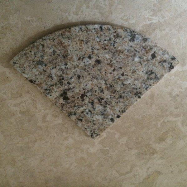 New Venetian Gold Granite Natural Stone Shower Corner
