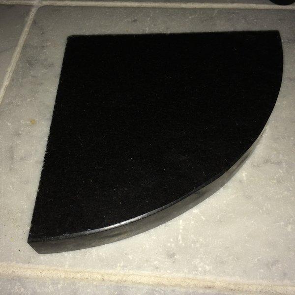 Absolute Black Granite Shower Corner Shelf Sundance Tile