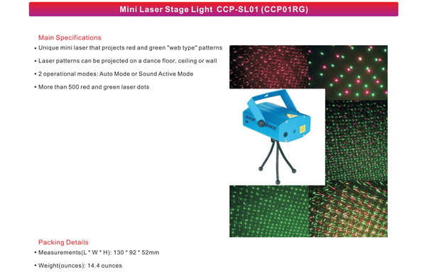 Led Mini Laser Stage Light Blue Sl01 01rg Led Lighting