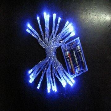 Battery Operated Led String Lights Blue : 30 LED String Light Battery Operated - Blue LED LIGHTING
