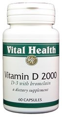 Vitamin D3 2,000 IU 60 caps