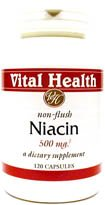 Niacin (Non-Flush) 500 mg 120 caps