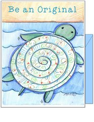 "Blue Turtle ""Be an Original"" Note Cards"