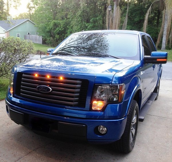 2009 2012 Ford F 150 Raptor Style Grill Clear Light Kit