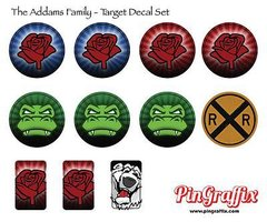 THE ADDAMS FAMILY TARGET DECAL SET