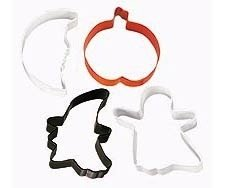 Spooky Ghost, Pumpkin, Witch, Moon Cookie Cutter Set of 4