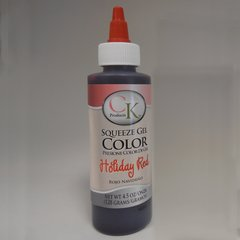 Holiday Red Gel Food Coloring 4.5 oz