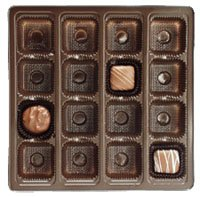 Candy Tray Brown 1 lb Square 16 Cavity