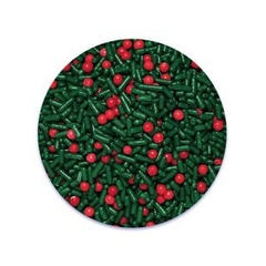 Christmas Berry Jimmies Mix Sprinkles 16 oz