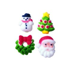 Christmas Charms Edible Sugar Decorations 12 Piece