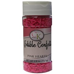 Pink Heart Shaped Sprinkles 2.6 oz