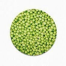 Green Pearlized Pastel Edible Sugar Pearls 3mm 1 lb.