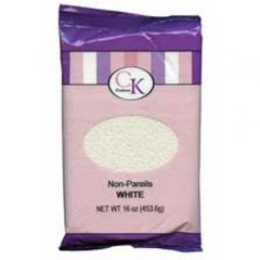 White Non-Pareils Sprinkles 16 oz