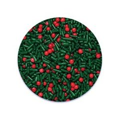 Christmas Berry Jimmies Mix Sprinkles 3.2 oz.