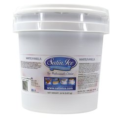 White Rolled Fondant Icing Satin Ice 5 lb.