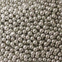 Silver Dragees 3-4mm 2.1 oz.