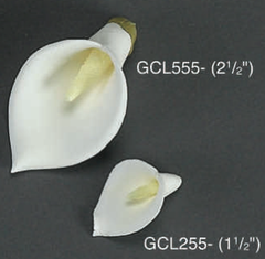 Calla Lily 2 1/8 inch Edible Gumpaste Flower 4 Pieces