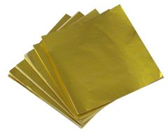 Gold 4x4 Candy Foil Squares 125 piece