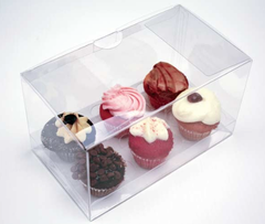 7x4x3 inch Clear Cake Cupcake Candy Box