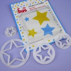 Star Gumpaste Fondant Cutter Set of 3