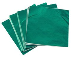 Dark Green 4x4 Candy Foil Squares 125 piece