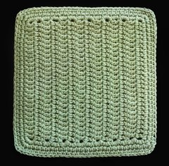 100% Cotton Hand Crocheted Square Pot Holder Hot Pad Doily Trivet Color: SAGE