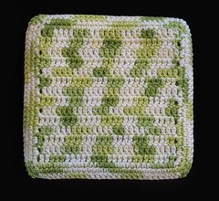 100% Cotton Hand Crocheted Square Pot Holder Hot Pad Doily Trivet Color: KEY LIME